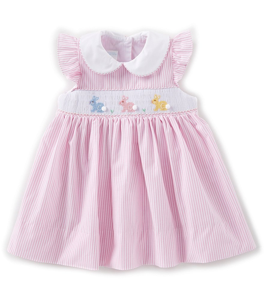 f5472a7487a Edgehill Collection – Baby Girls 3-9 Months Embroidered Bunny Dress
