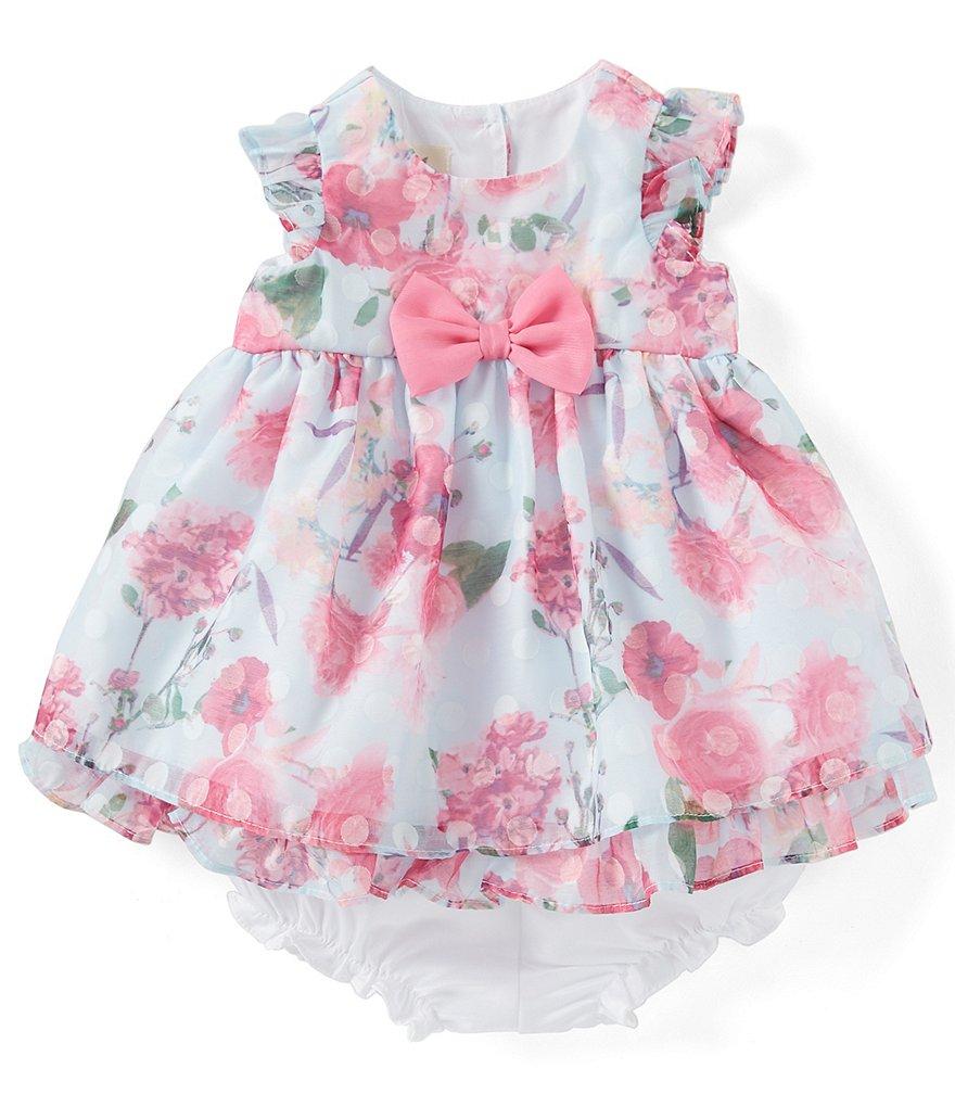 fef7a01eef7 Laura Ashley Baby Girls Newborn-24 Months Floral Ruffle-Hem Fit-And-Flare  Dress