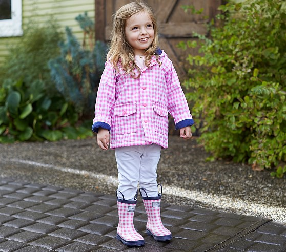 Cute Toddler Girl's Matching Rain Coats