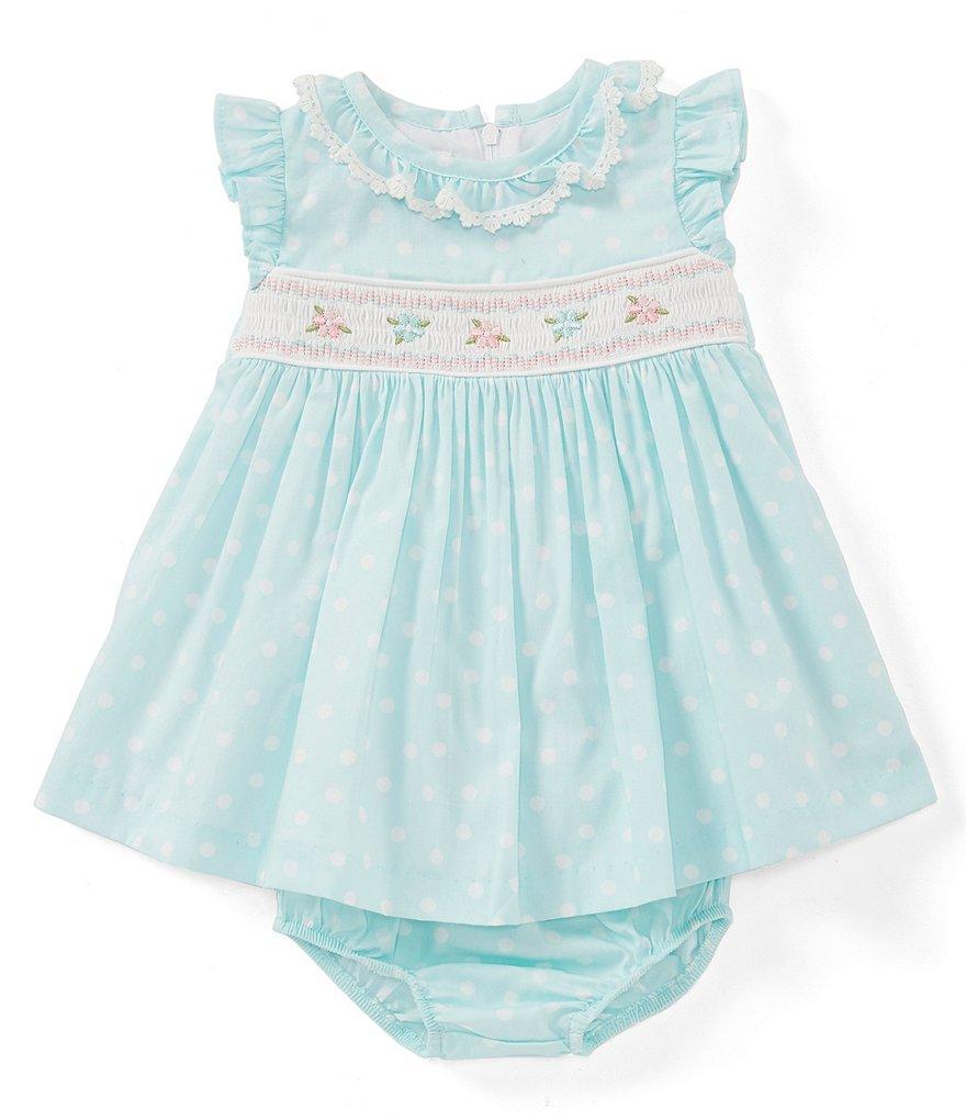 e17ed538f60 Bonnie Jean Baby Girls Newborn-24 Months Dotted Poplin Fit-And-Flare Dress