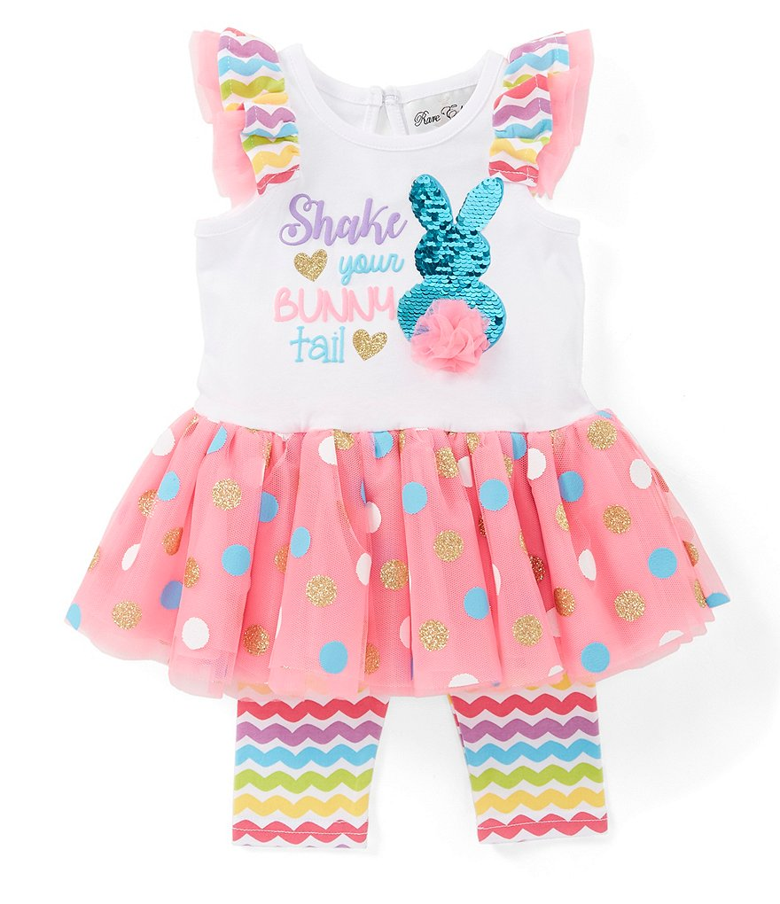 1d14be061 Rare Editions Baby Girls 3-24 Months Shake Your Bunny Tail Tutu Dress &  Leggings Set